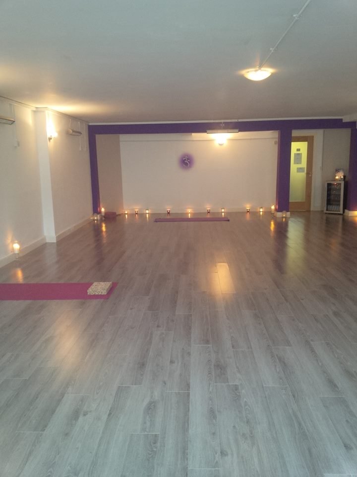 a yoga lounge